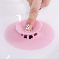 Round Shaped Easy Installable Sink Stopper - Pink