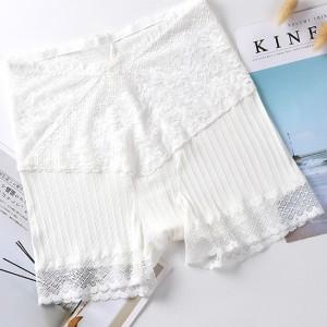 Lace Stretchable Summer Women Wear Classic Brief Underwear - White