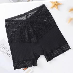 Lace Stretchable Summer Women Wear Classic Brief Underwear - Black