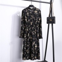 Floral Prints Summer Wear Women Fashion Dress - Jet Black