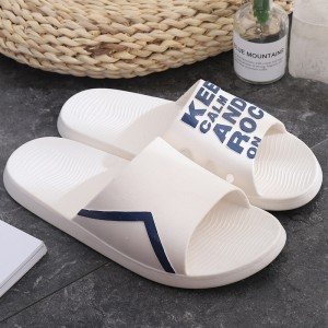 High Quality Casual Wear Flat Summer Slippers - White