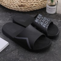 High Quality Casual Wear Flat Summer Slippers - Black