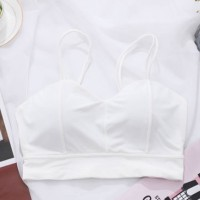 Strapped Summer Wear Padded Women Bra - White