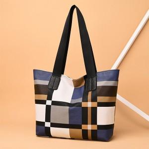 Check Prints Wide Space Women Fashion Casual Shoulder Bags - Yellow