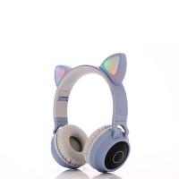 Cat Carved Stereo Wireless Bluetooth Headphones - Purple