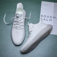 Trendy Mesh Lace Fashion Soft Sole Sports Wear Sneakers - White