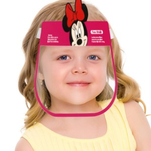 Micky Printed High Resistant Face Shield For Kids - Red