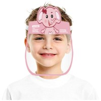 Animal Printed Transparent Germs Safety Face Shield - Pink