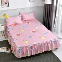 Strawberry Printed Cute Comfortable High Quality Bed Sheet - Pink