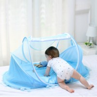 Portable Easy Fold Baby Mosquito Net Tent Travel Bed - Blue