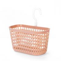 Creative Hollow Design Hooked Plastic Basket - Pink