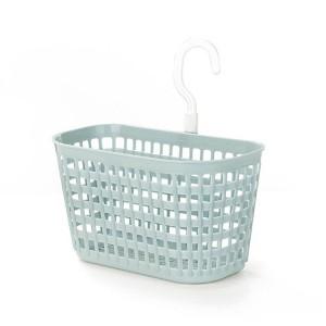 Creative Hollow Design Hooked Plastic Basket - Blue