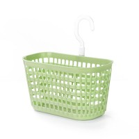 Creative Hollow Design Hooked Plastic Basket - Green
