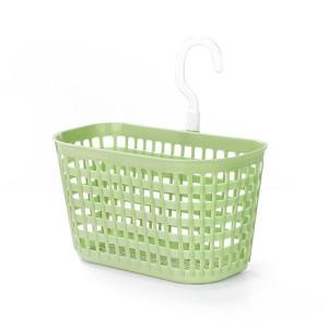 Creative Hollow Design Hooked Plastic Basket - Green