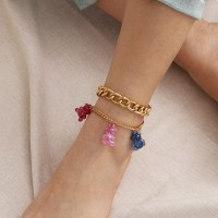 Creative Pendant Bear Multi Layered Anklets For Women