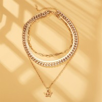 Creative Multi Layered Snake Chain Necklace - Golden
