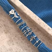 Geometric Designs 10 Pieces Women Rings Set - Silver