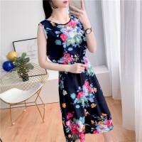 Sleeveless Floral Printed Mini Summer Dress - Multicolor