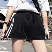 Elastic Waist Sexy Fashion Women Wear Shorts - Black