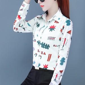 Printed Women Fashion Cocktail Wear Shirt - Multicolor