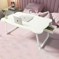 Solid Color High Quality Foldable Laptop Table White
