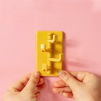 Adhesive Foldable Multi Sided Wall Hanger Hook - Yellow