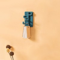 Adhesive Foldable Multi Sided Wall Hanger Hook - Blue