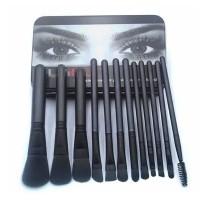 Twelve Pieces High Quality Women Face Grooming Makeup Brushes Set