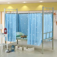Easy Installation Printed Bunker Bed Tent Cover Privacy Curtains - Blue