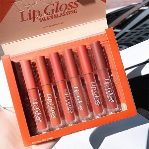 Six Pieces Multi Shaded Women Fashion Lip Gloss Set