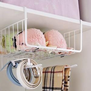 Hooked Fancy Smart Kitchen Insallation Basket Rack - White