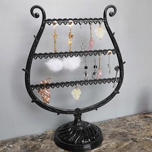 Cute Wine Glass Shaped Jewellery Hanger Rack - Black