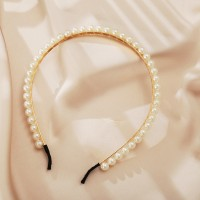 Trendy Pearls Casual Wear Headband For Women - White
