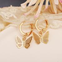 Elegant Pendant Butterfly Gold Plated Casual Wear Earrings