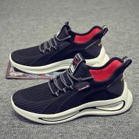 Light Weight Women Fashion Lace Up Gym Running Men Shoes - Black