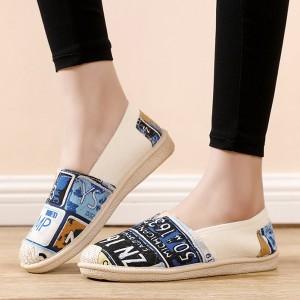 Flat Wear Printed Women Fashion Party Shoes - Blue