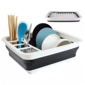 Plastic Fancy Kitchen Storage Rack - Gray