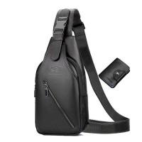 Mini Zipper Closure Unisex Outdoor Smart Backpacks - Black