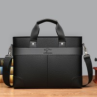 Synthetic Leather Unisex Multi Purpose Laptop Bags - Black