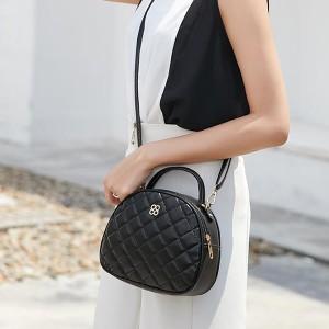 Patchwork Zipper Closure Party Shoulder Bags - Black