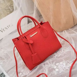 Synthetic Leather Women Fashion Formal Mini Handbags - Red