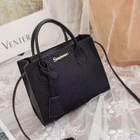 Synthetic Leather Women Fashion Formal Mini Handbags - Black
