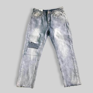 Ripped Crop Bottom Fashion Casual Wear Pant - Blue