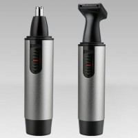 Multi Functional Rechargeable Electric Nose Hair Trimmer - Black Silver