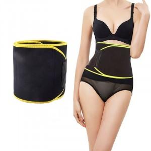 Slimming Body Shaper Weight Lost Waist Trimmer Belt - Black