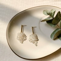 Crystal Tassel Grape Earrings - Transparent