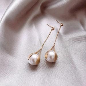 Elegant Pearl Earrings for Women - Golden