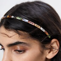 Colorful Crystal Decorated Fancy Women Headband - Multi Color
