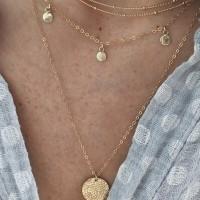 Fancy Clavicle Flour Layered Pendant Necklace - Golden