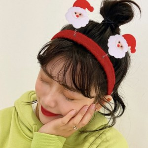 Cute Santa High Quality Headband For Girls - Red